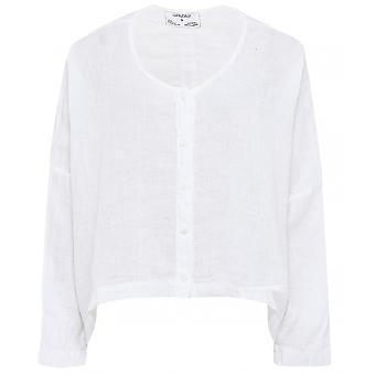 Grizas Linnen Knop Door Shirt