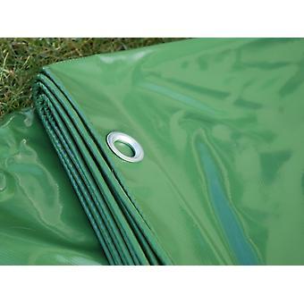Afdekzeil 6x10m, PVC 600g/m², Groen, Vlamvertragende