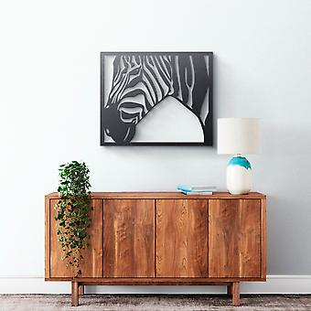 Metal Wall Art - Zebra #2