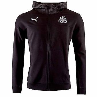 2019-2020 Newcastle Puma Casual Zip Hoodie (Black)
