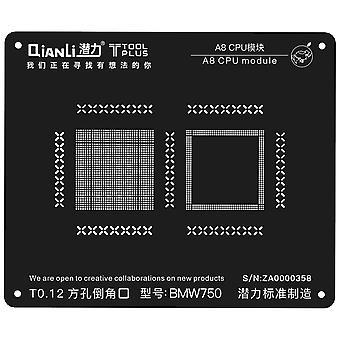 QianLi BGA Stencil Template - A8 CPU Module - iPhone 6 - BMW750