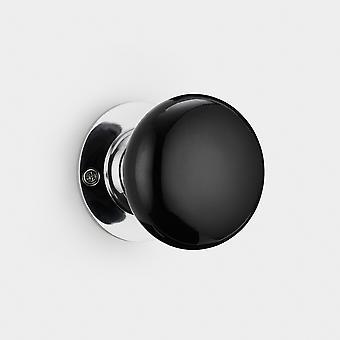 Ceramic Interior Door Knob - Black