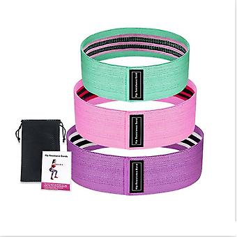 3 Piece Fitness Elastic Rubber Resistance Bands Expander For Fitness Training