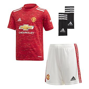 adidas Manchester United 2020/21 Kids Junior Mini Home Football Kit Red