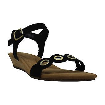 Koolaburra by UGG Women's Leira Heeled Sandal, Black,7.5 US