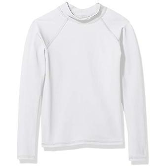 Essentials UPF 50- Big Boys' Long-Sleeve Rashguard, White, XL