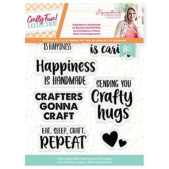 Crafter's Companion Clear Stamps - Crafty Fun Happiness is Handmade
