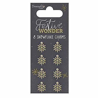 Dovecraft Festive Wonder Metal Snowflake Charms