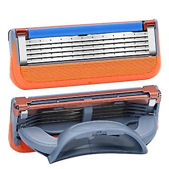 Profissional 5 camadas de lâminas de barbear compatíveis com cuidados faciais