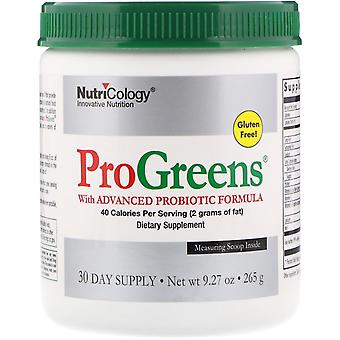 Nutricology, ProGreens with Advanced Probiotic Formula, 9.27 oz (265 g)