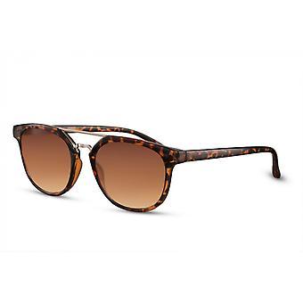 Okulary przeciwsłoneczne Unisex Wanderer pełnowymiarowe czarne/brązowe