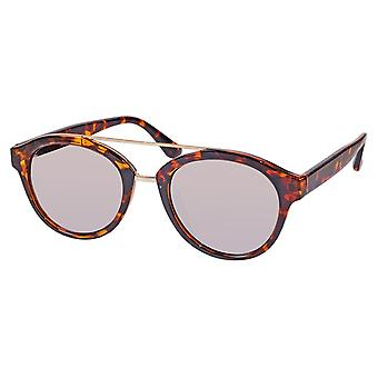 Sunglasses Unisex brown with mirror lens (ml6610)
