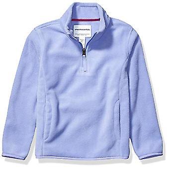 Essentials Girl's Quarter-Zip Polar Fleece Jacket, Periwinkle Purple, ...