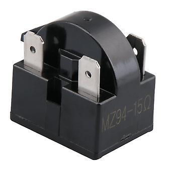 Frigider Compresor PTC Releu Starter 15 Ohm 4 Pini Negru
