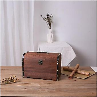 Children Small Change Saving Bank, Vintage Wooden Coins Box