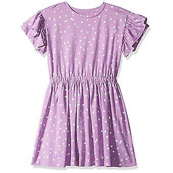 / J. Crew Brand- LOOK by Crewcuts Girls' Ruffle Sleeve Dress, Purple St...