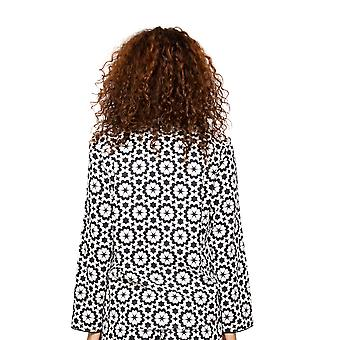 Cyberjammies Mohn 4594 Frauen's schwarz & weiß Fliesen Druck Pyjama Top
