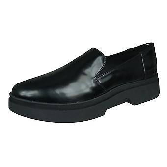 Geox D Myluse B Cuir Femme Loafer / Chaussures - Noir