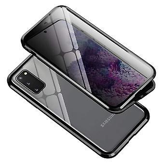 Stoff zertifiziert® Samsung Galaxy S20 magnetische 360 ° Fall mit gehärtetem Glas - Ganzkörper-Cover-Etui + schwarz Bildschirm-Schutz