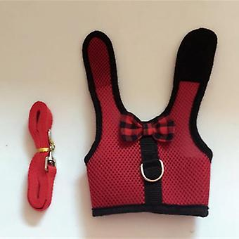 Vest Harness With Leash For Rabbits, Hamster And Bunny