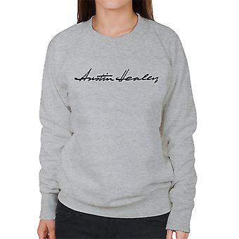 Austin Healey Handwriting Logo British Motor Heritage Women's Sweatshirt