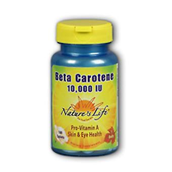 Nature's Life Beta Carotene, 10.000 IE, 100 softgels