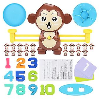 Montessori Monkey Digital Maths Balance Scale, Scala di bilanciamento educativo