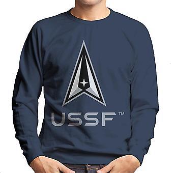U.S. Space Force Light Logo USSF Lighter Text Men's Sweatshirt