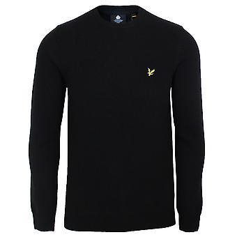 Lyle & scott men's jet black lambswool jumper