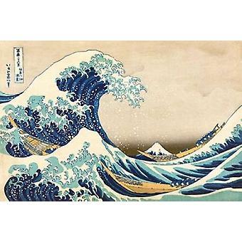 The Great Wave off Kanagawa Poster Print by Katsushika Hokusai