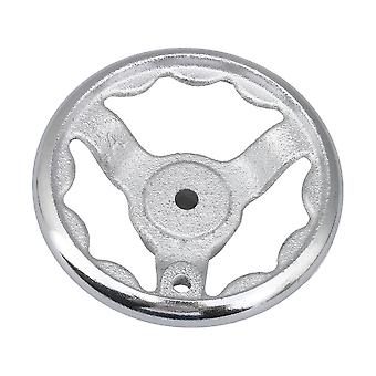 116mm Dia Silver Round Cast Iron Hand Wheel for Medical Equipment