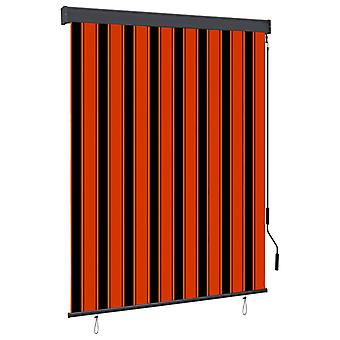 vidaXL Outer roller blind 140x250 cm Orange and brown