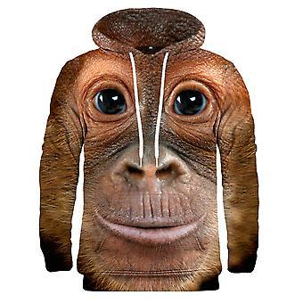 Mr. Gugu Miss Go Monkey Gesicht Hoodie