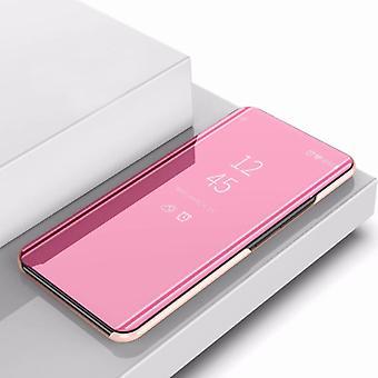 Elektroplating peili vaakasuuntainen flip PU nahkakotelo haltija Galaxy Note 10 (Ruusukulta)