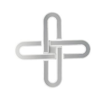 Fan Europe Obsession - Geïntegreerde LED Dimmable Flush Plafondhanger, Wit, 3000- 4000-6000K