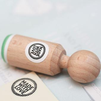 Made with Love Rubber Stamp - VERY MINI - Craft / Scrapbooking / Stamping