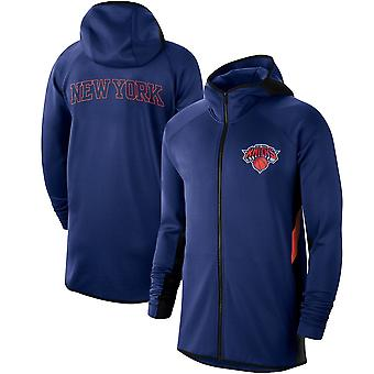New York Knicks Showtime Therma Flex Performance Full Hoodie Top WY145