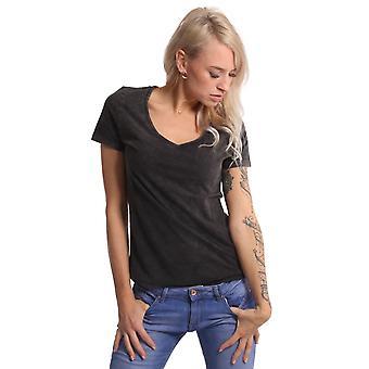 YAKUZA Naisten t-paita Kovempi V-kaulaväri