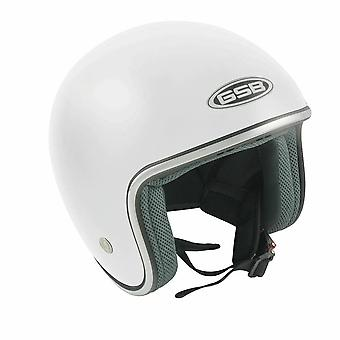 GSB G-234 Adult Open Face Motorfiets Helm Plain White Gloss