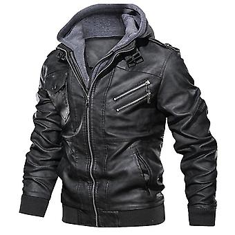 Autumn New Casual Motorcycle Pu Jacket, Leather Coats
