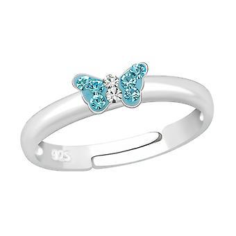 Маленькая бабочка - 925 стерлингового серебра кольцо - W23475x