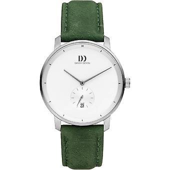 Dänisches Design Donau Uhr - Grün/Weiß