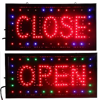 Open & Closed Led Sign - Store Neon Business Bar Shop Lukket lys