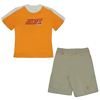 Nike Infants Outfit Unisex Just Do It Shorts T-Shirt Co Ord 490429 790