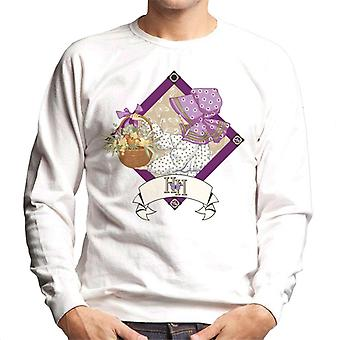 Holly Hobbie With A Basket Of Fruit And Flowers Men's Sweatshirt