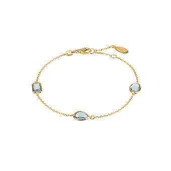 Венеции браслет, золото голубой топаз