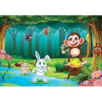 Tapete Wandbild Bär im Dschungel (31239746)