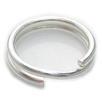 1 X 8mm Split Ring Sterling Zilver .925 Charm Sleutelhangers Ringen - 6016