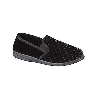 Zedzzz 'Kevin' Textured Velour Slippers