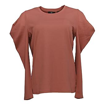 G By Giuliana Women's Top Puff Long Sleeve Crepe Knit Pink 677-496